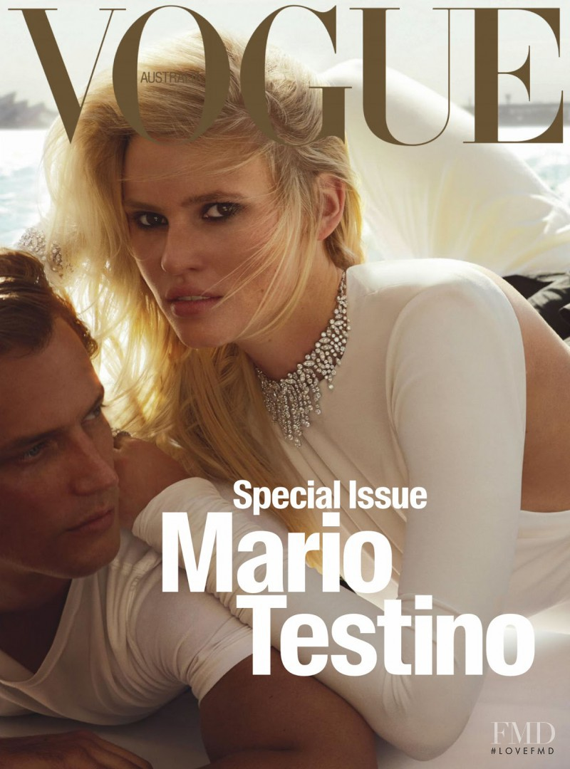 Lara Stone featured on the Vogue Australia cover from April 2016