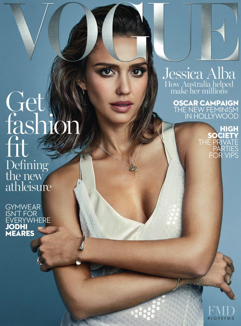 Jessica Alba featured on the Vogue Australia cover from February 2016