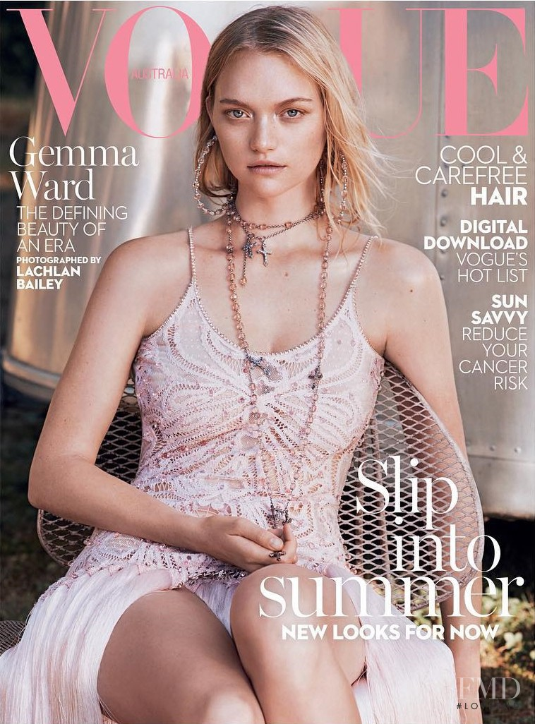 Gemma Ward featured on the Vogue Australia cover from January 2016