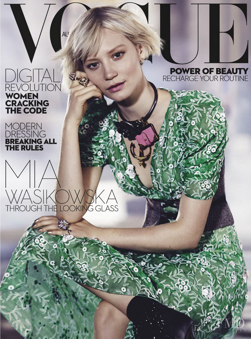 Mia Wasikowska featured on the Vogue Australia cover from July 2016