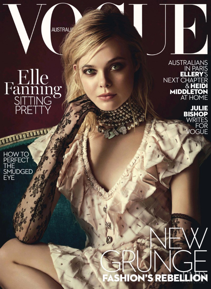 Elle Fanning featured on the Vogue Australia cover from March 2016