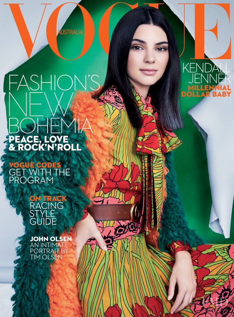 Kendall Jenner featured on the Vogue Australia cover from October 2016