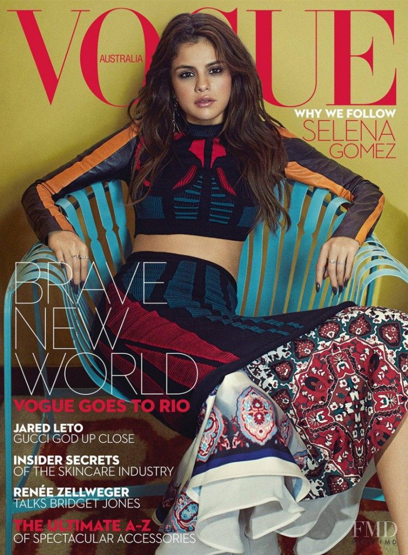 Selena Gomez featured on the Vogue Australia cover from September 2016
