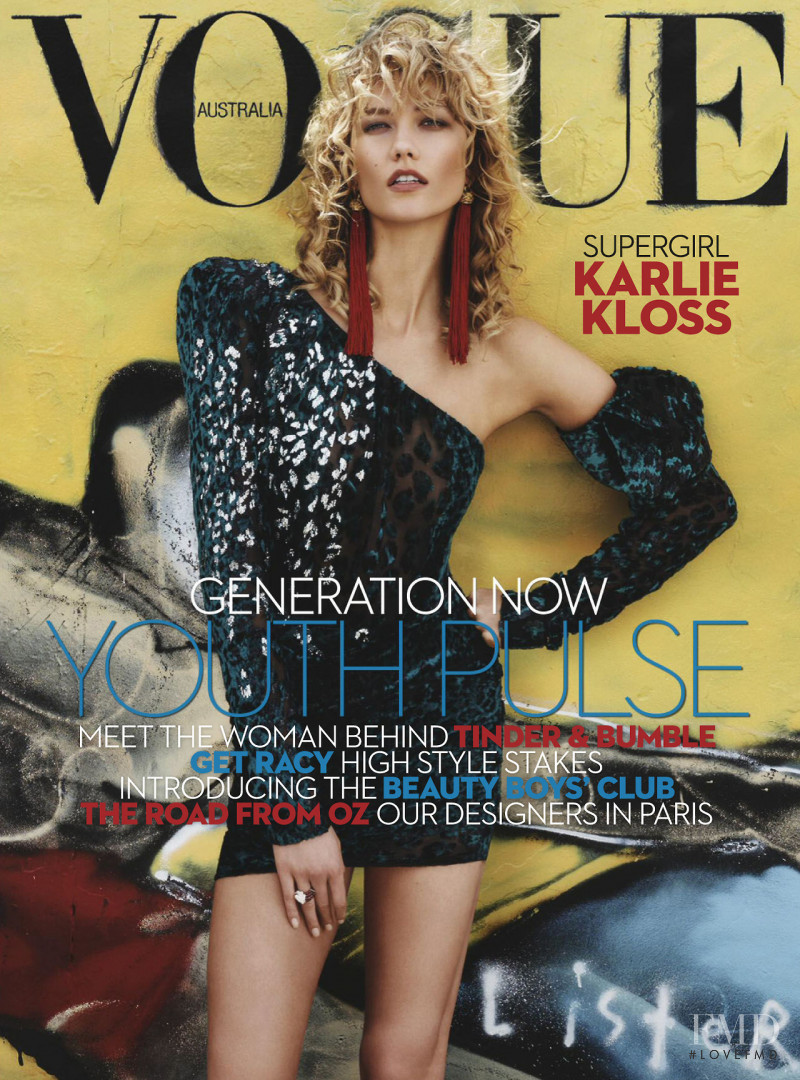 Karlie Kloss featured on the Vogue Australia cover from April 2017