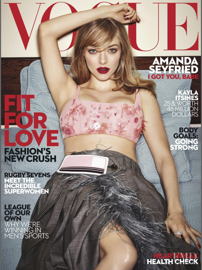 Amanda Seyfried featured on the Vogue Australia cover from February 2017