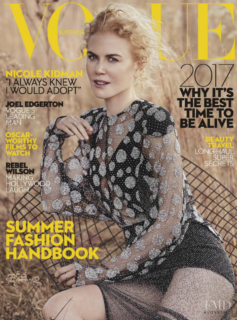 Nicole Kidman featured on the Vogue Australia cover from January 2017