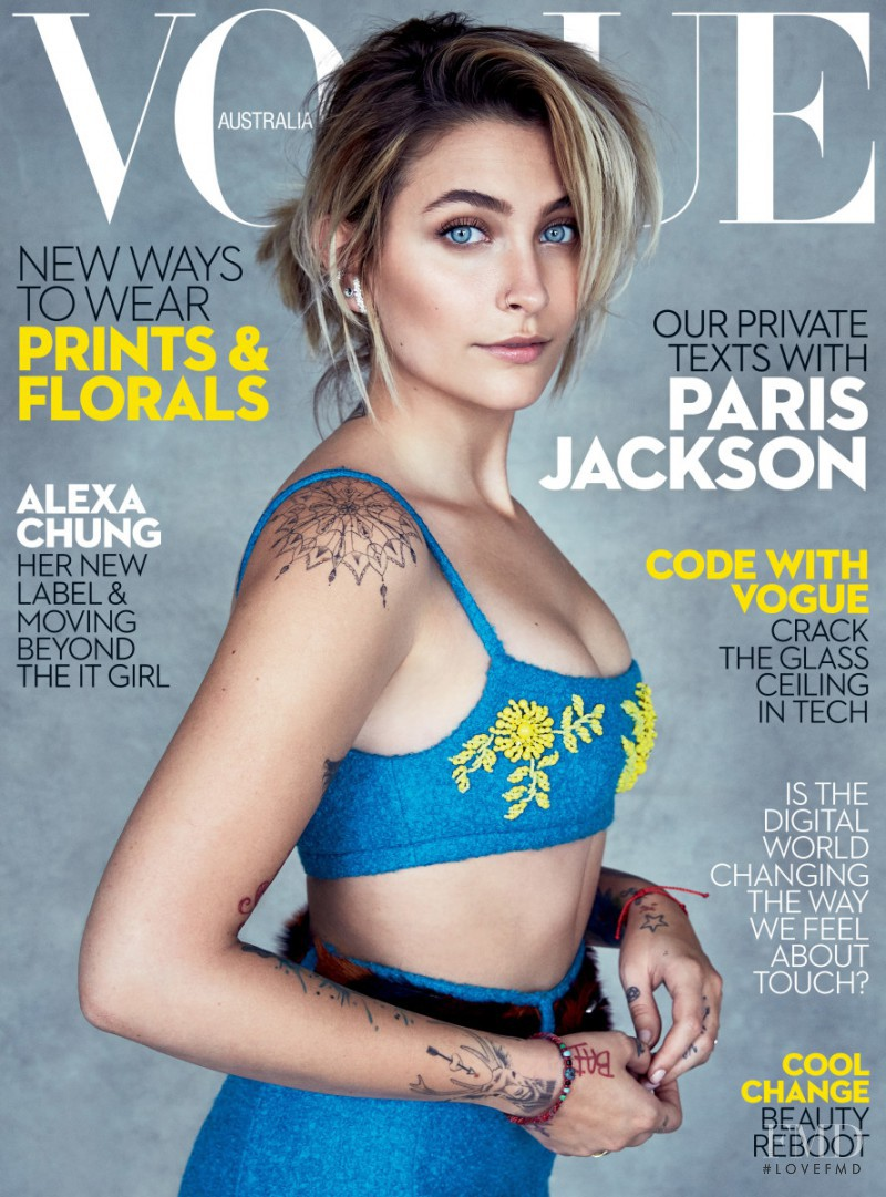 Paris Jackson featured on the Vogue Australia cover from July 2017