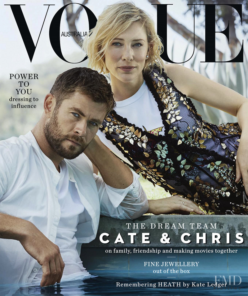 Chris Hemsworth & Cate Blanchett featured on the Vogue Australia cover from November 2017