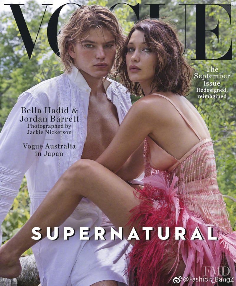 Bella Hadid featured on the Vogue Australia cover from September 2017