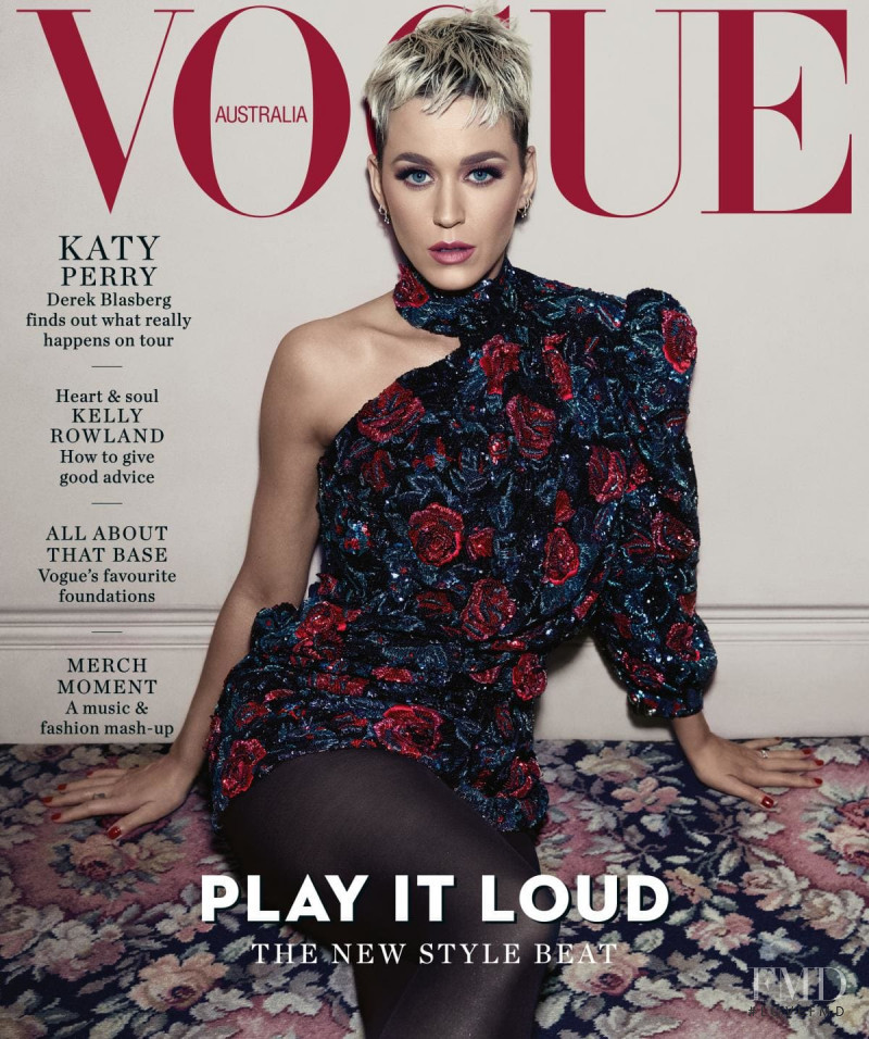 Katy Perry featured on the Vogue Australia cover from August 2018