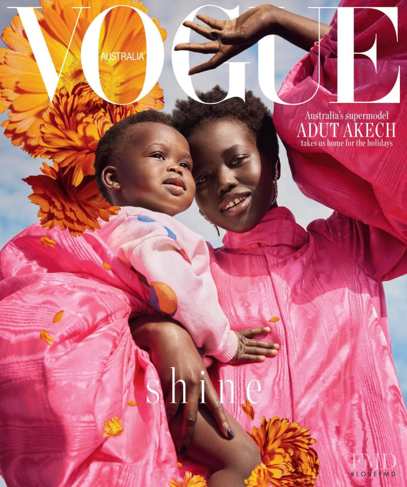 Adut Akech Bior featured on the Vogue Australia cover from December 2018