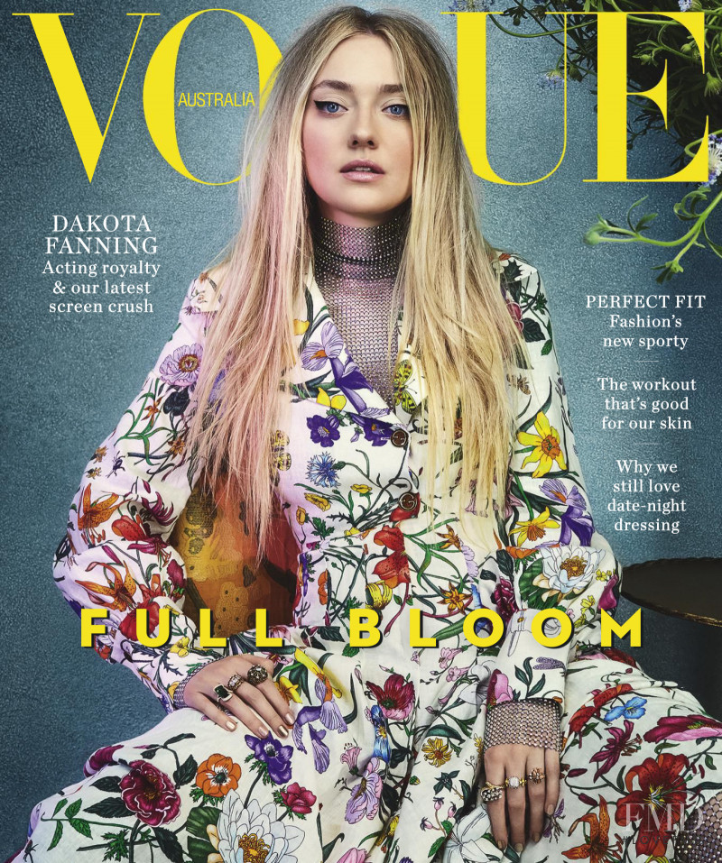 Dakota Fanning featured on the Vogue Australia cover from February 2018