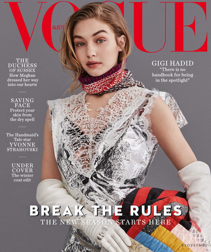 Gigi Hadid featured on the Vogue Australia cover from July 2018