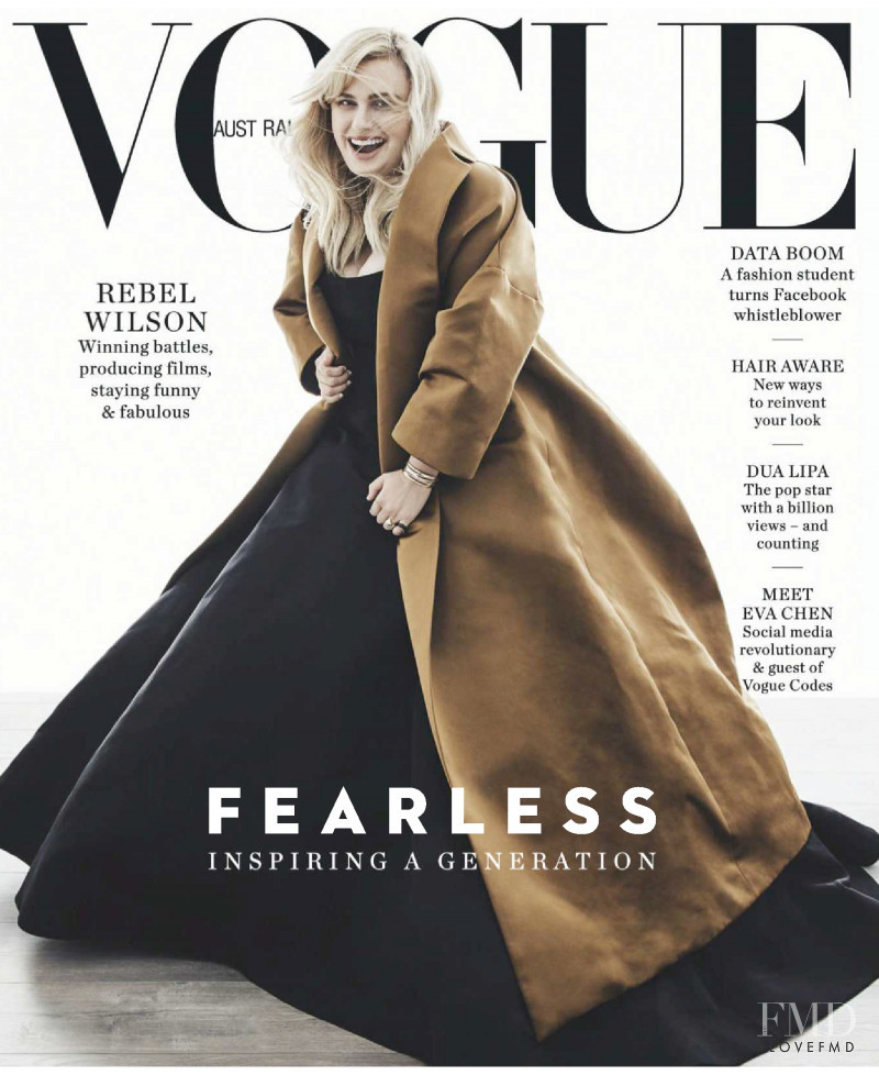 Rebel Wilson featured on the Vogue Australia cover from June 2018