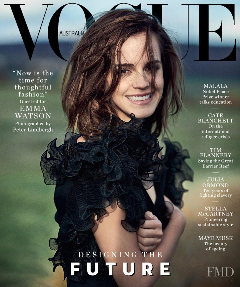Emma Watson featured on the Vogue Australia cover from March 2018