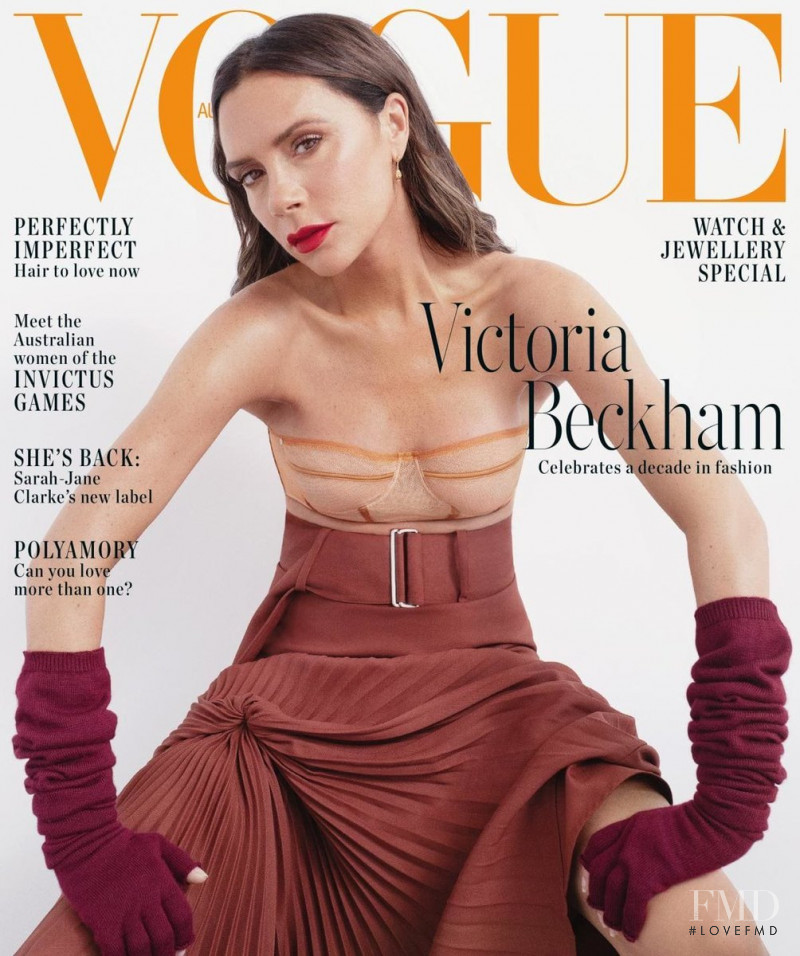 Victoria Beckham featured on the Vogue Australia cover from November 2018