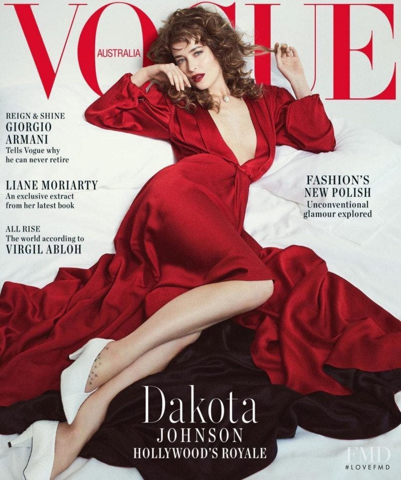 Dakota Johnson featured on the Vogue Australia cover from October 2018