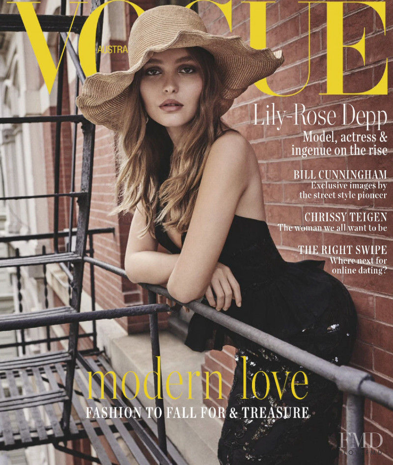 Lily Rose Depp featured on the Vogue Australia cover from February 2019