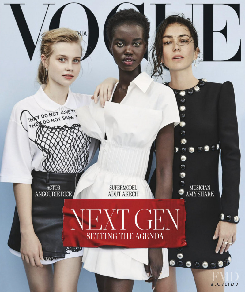 Adut Akech Bior featured on the Vogue Australia cover from March 2019