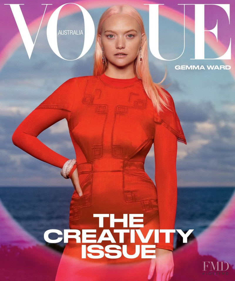 Gemma Ward featured on the Vogue Australia cover from March 2021