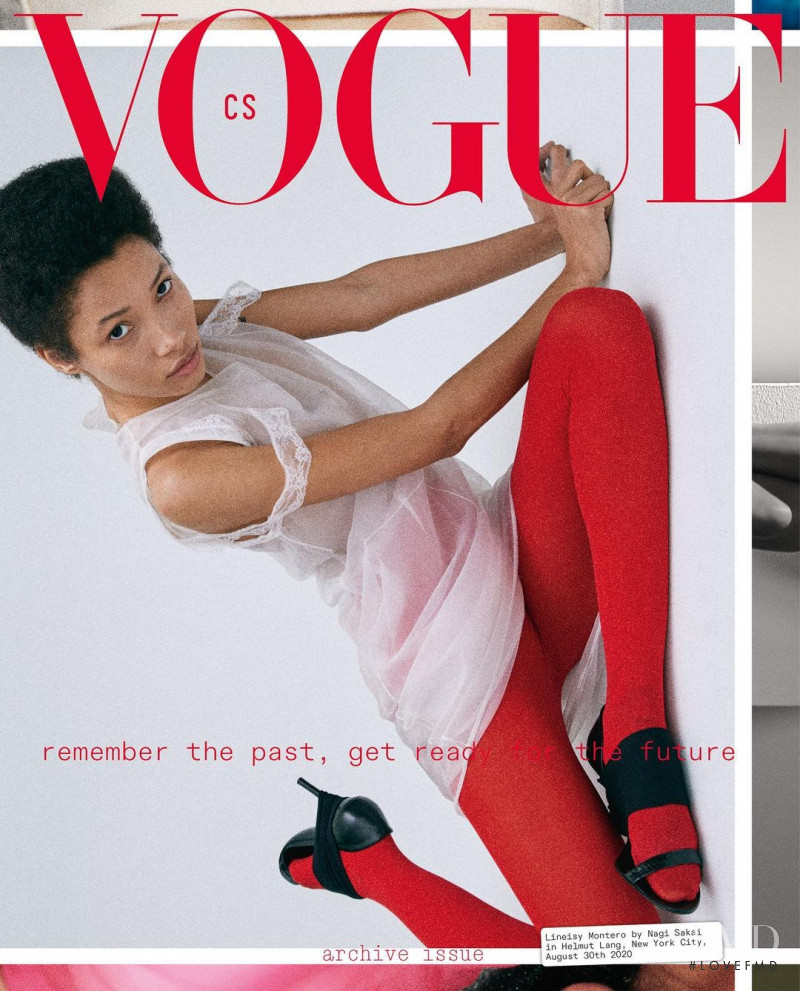 Lineisy Montero featured on the Vogue Czechoslovakia cover from October 2020