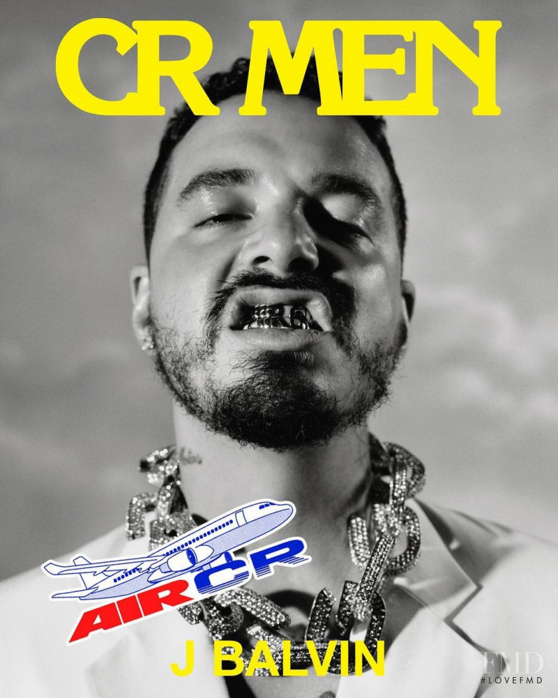 J Balvin featured on the CR Men cover from March 2021