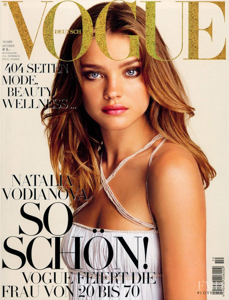 Natalia Vodianova featured on the Vogue Germany cover from October 2005