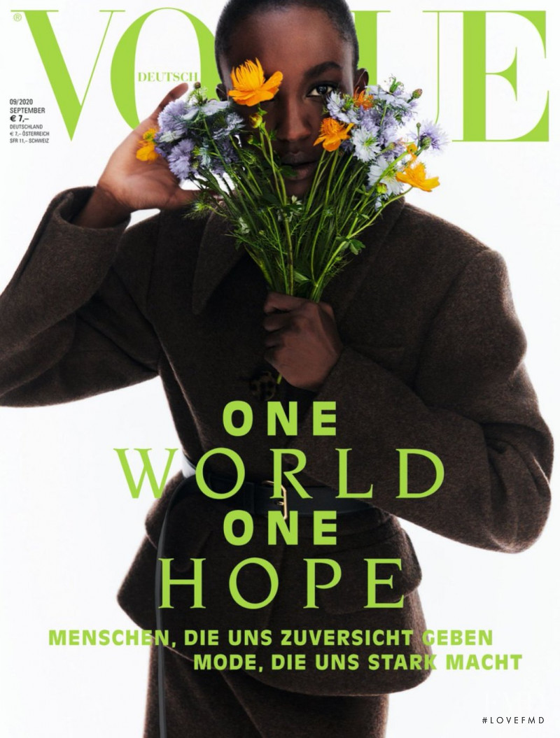Nicole Atieno featured on the Vogue Germany cover from September 2020