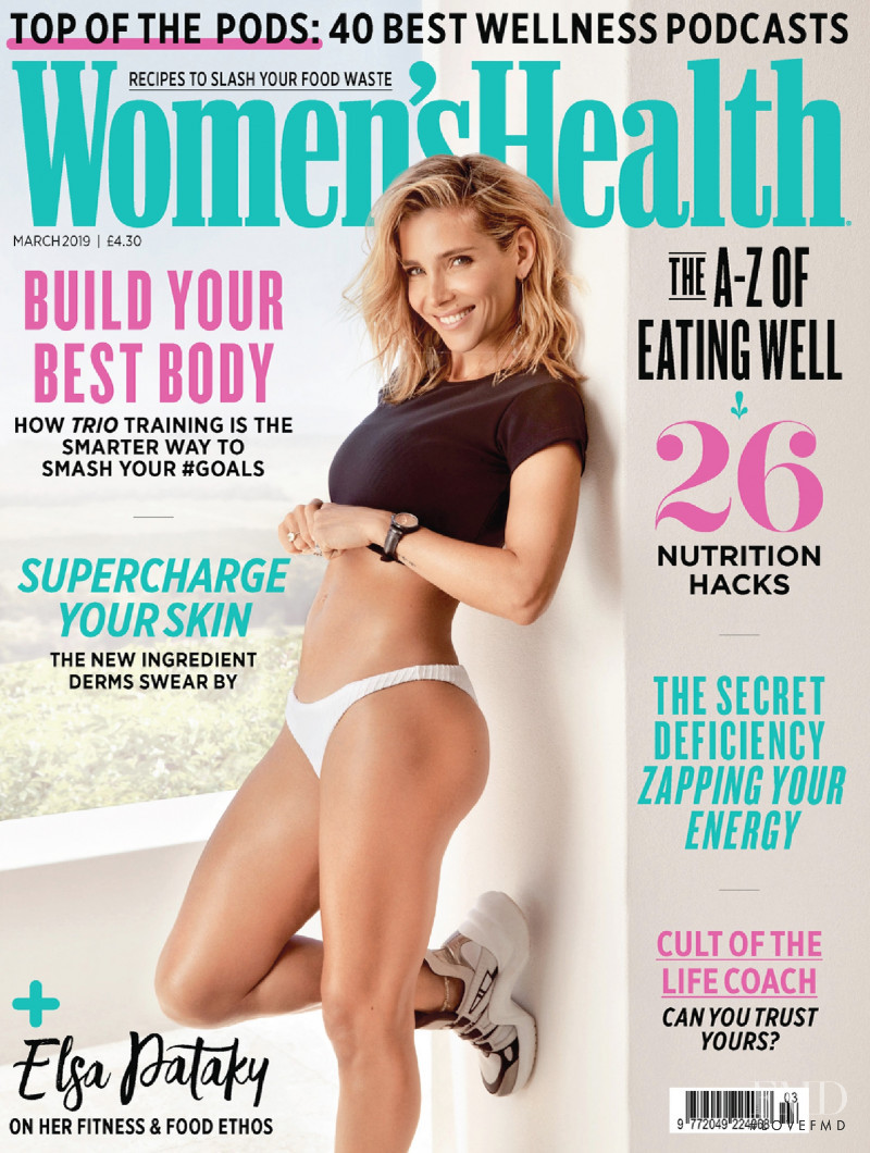 Cover of Women's Health UK with Elsa Pataky, March 2019 (ID:48698)|  Magazines | The FMD