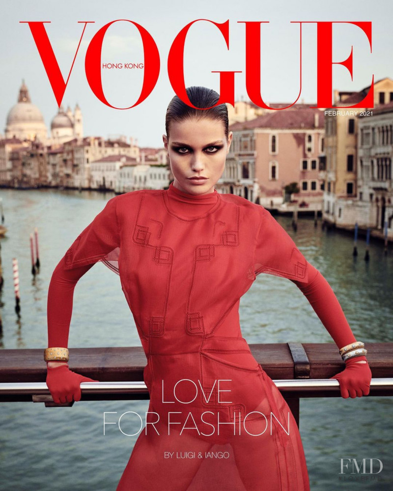 Luna Bijl featured on the Vogue Hong Kong cover from February 2021