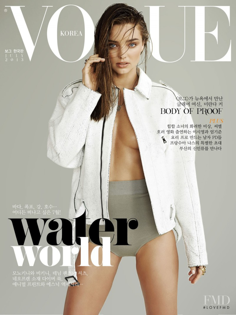 Miranda Kerr featured on the Vogue Korea cover from July 2013