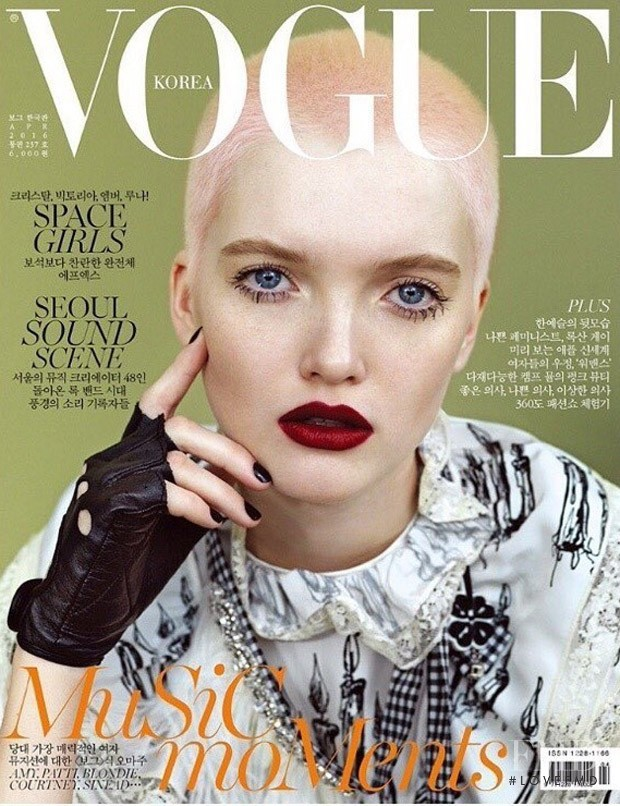 Ruth Bell featured on the Vogue Korea cover from April 2016