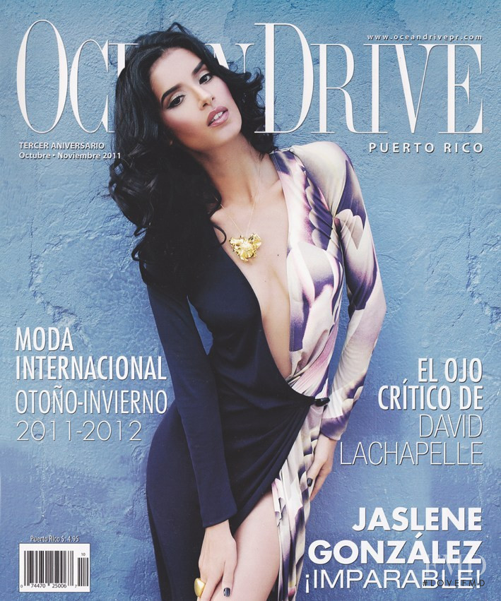 Jaslene Gonzalez featured on the Ocean Drive Puerto Rico cover from October 2011