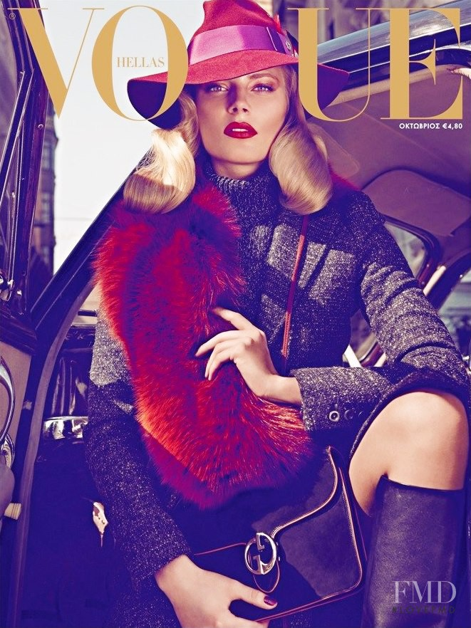 Ieva Laguna featured on the Vogue Greece cover from October 2011