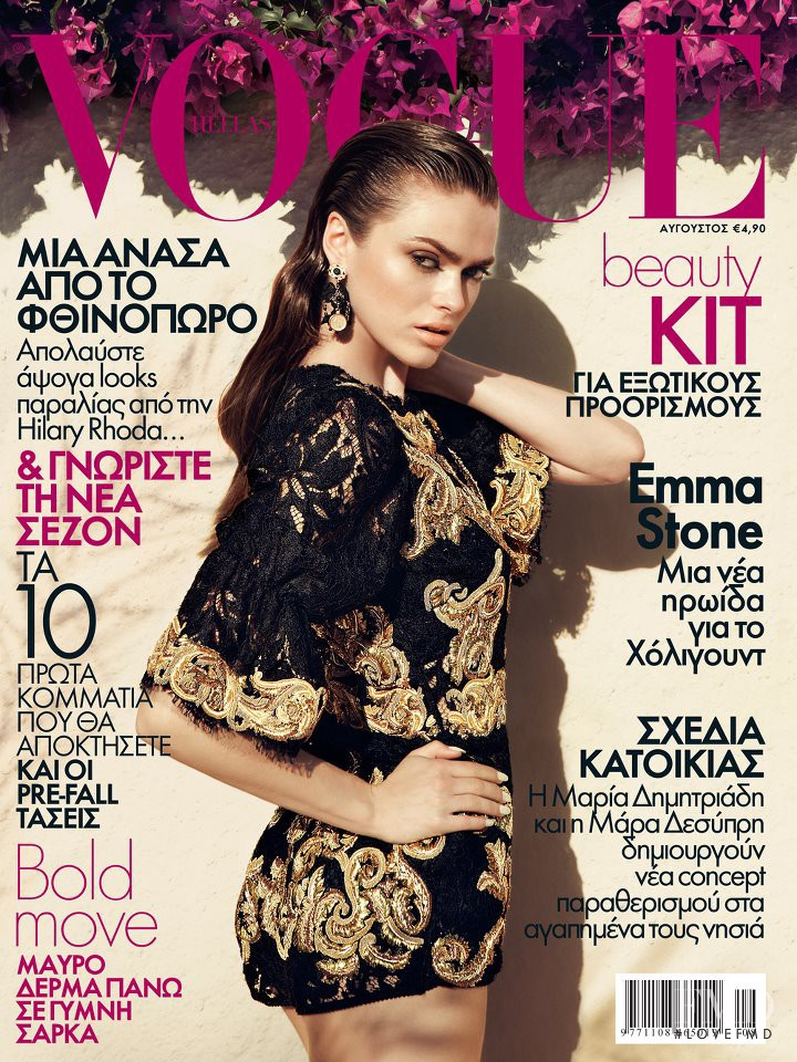 Sophie Vlaming featured on the Vogue Greece cover from August 2012