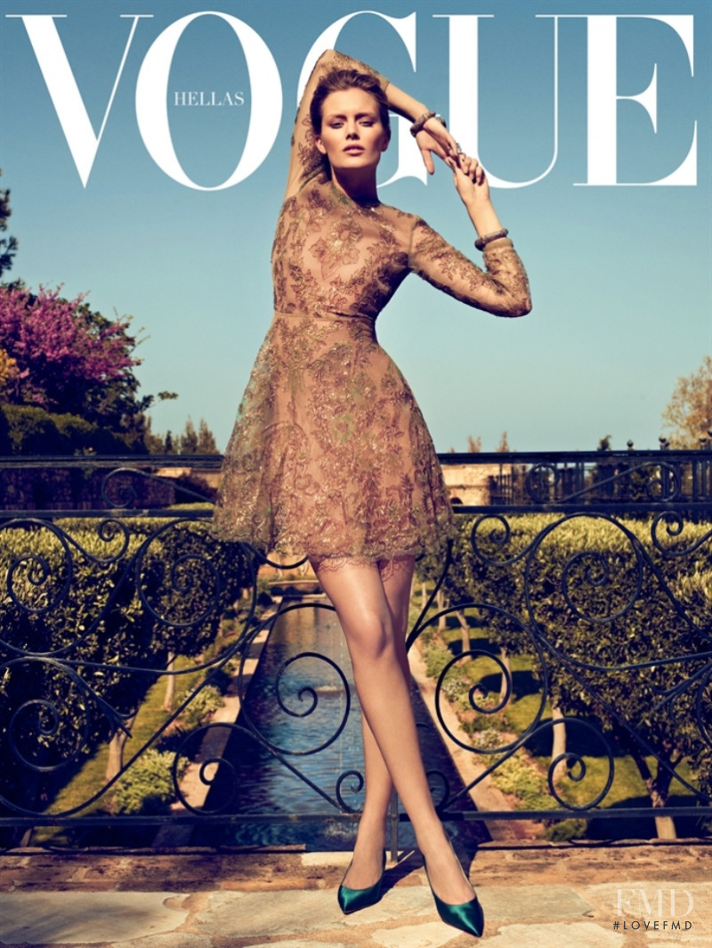 Charlott Cordes featured on the Vogue Greece cover from June 2011