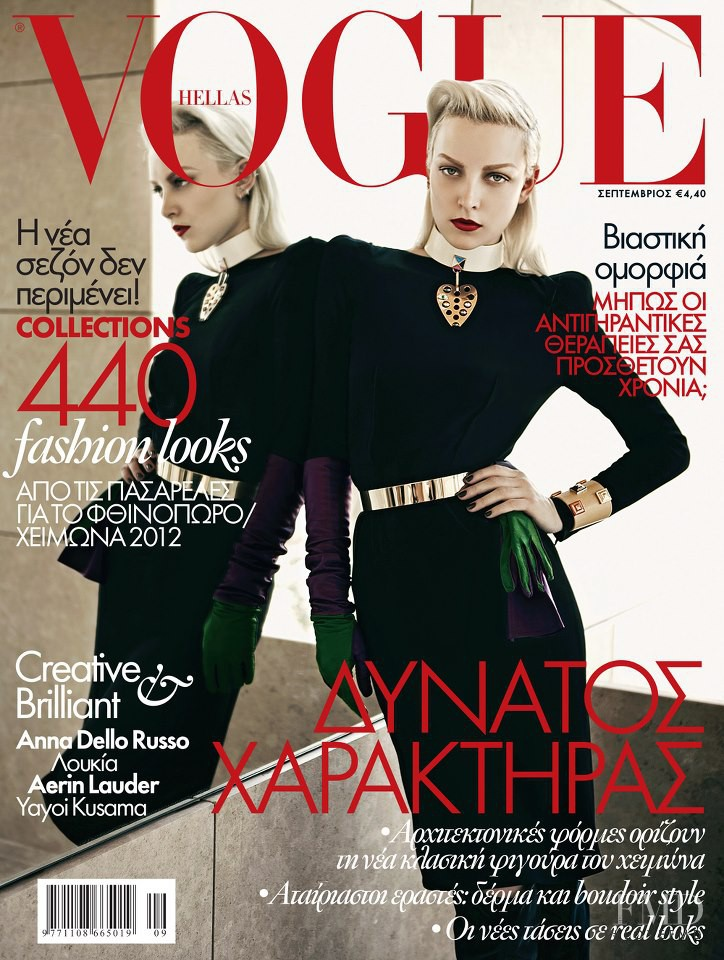 Ollie Henderson featured on the Vogue Greece cover from September 2012