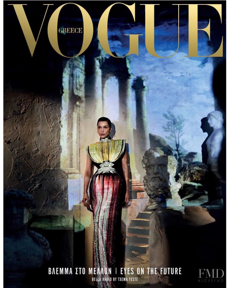 Bella Hadid featured on the Vogue Greece cover from April 2019