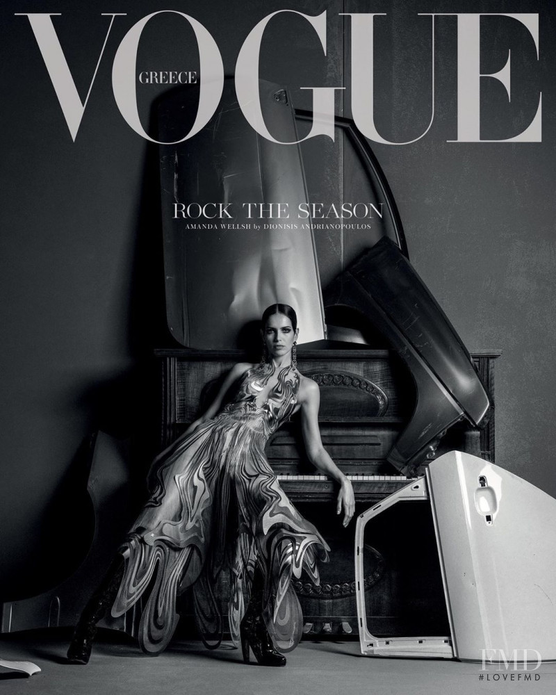 Amanda Wellsh featured on the Vogue Greece cover from December 2019