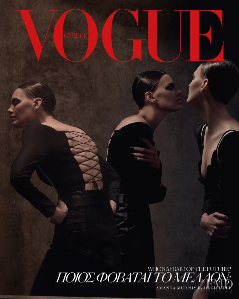 Amanda Murphy featured on the Vogue Greece cover from November 2019