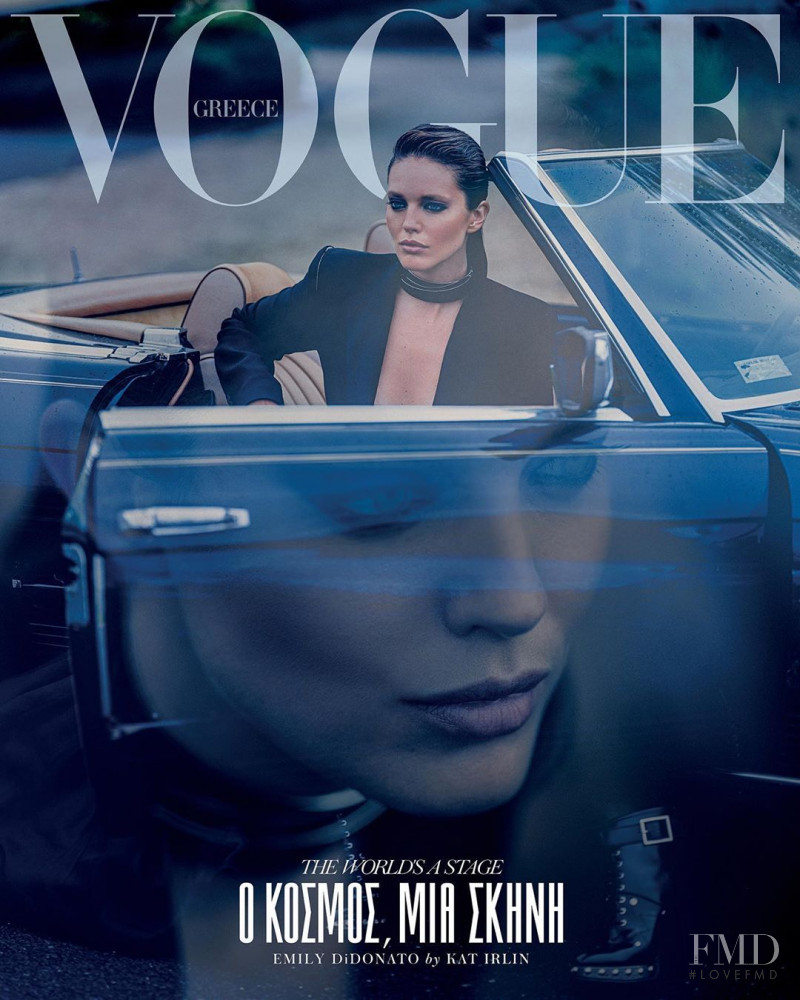 Emily DiDonato featured on the Vogue Greece cover from October 2019