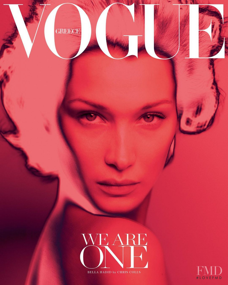 Bella Hadid featured on the Vogue Greece cover from April 2020