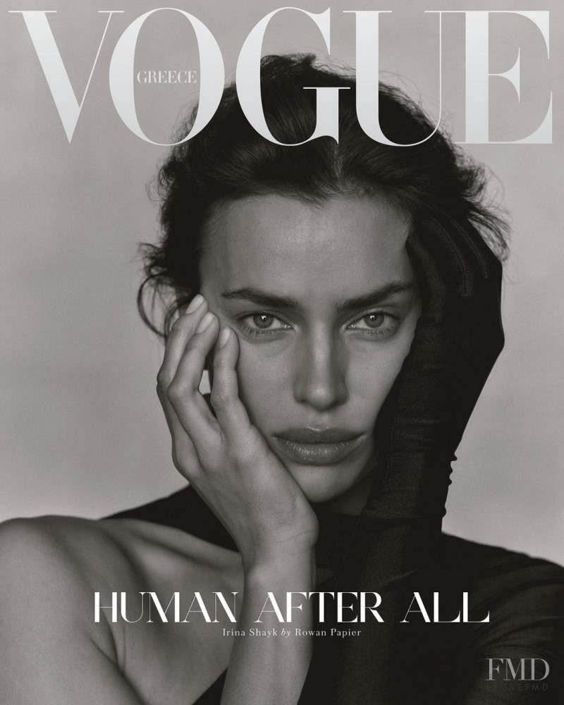 featured on the Vogue Greece cover from December 2020