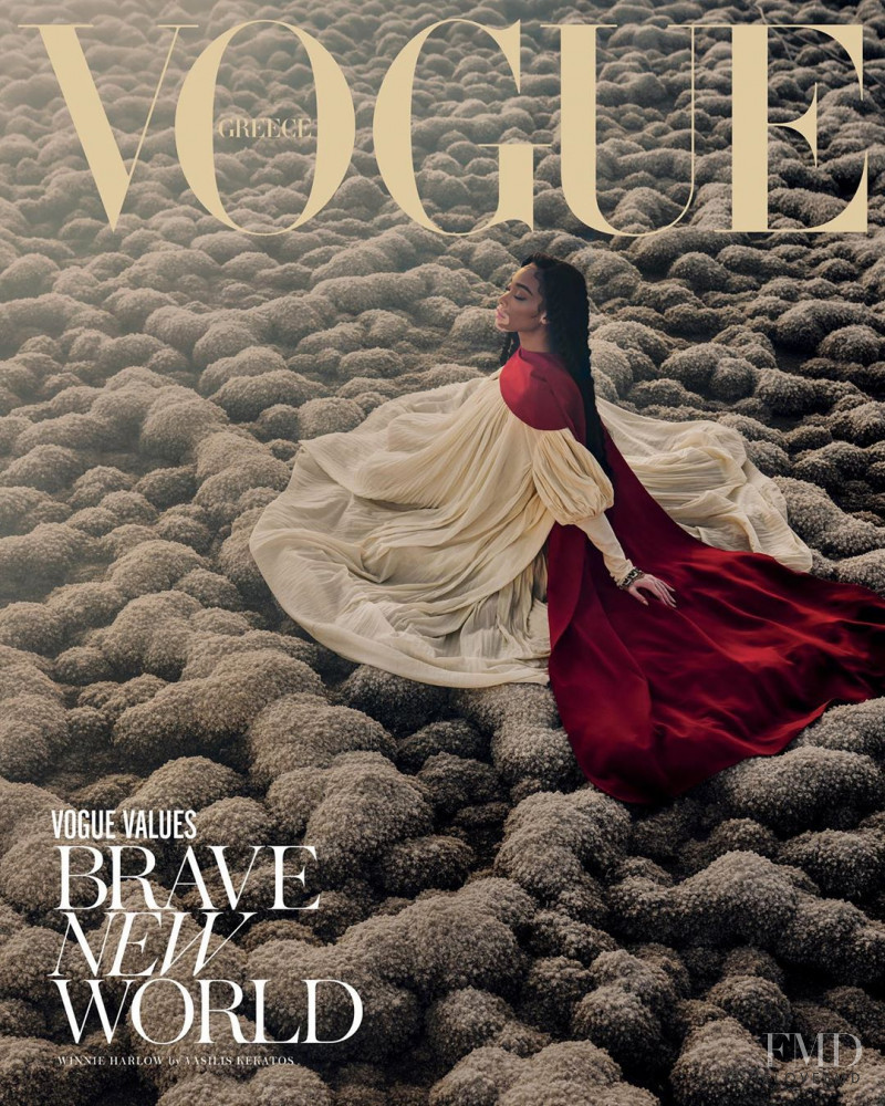 Winnie Chantelle Harlow featured on the Vogue Greece cover from February 2020