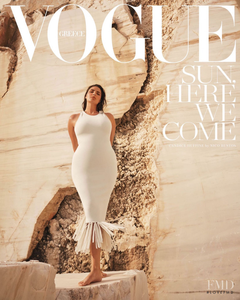 Candice Huffine featured on the Vogue Greece cover from June 2020