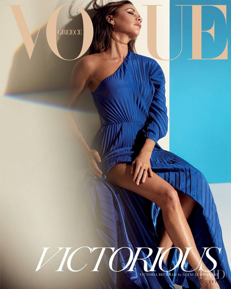 Victoria Beckham featured on the Vogue Greece cover from March 2020