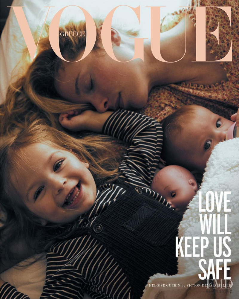 Heloise Guerin featured on the Vogue Greece cover from May 2020