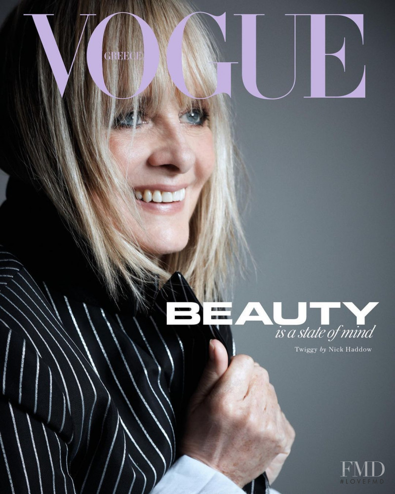 Twiggy Lawson featured on the Vogue Greece cover from January 2021
