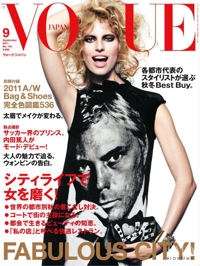 Karolina Kurkova featured on the Vogue Japan cover from September 2011