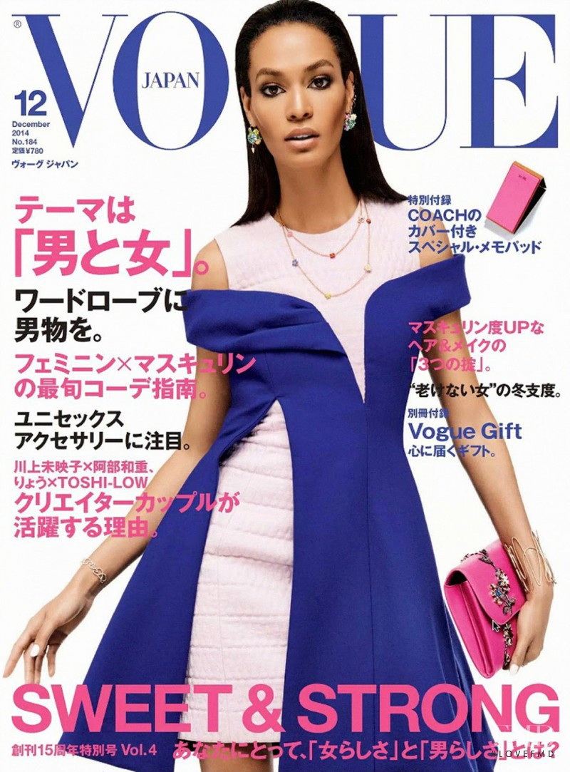 Joan Smalls featured on the Vogue Japan cover from December 2014